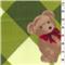 *3 YD PC--Diamond Bear Green Fleece