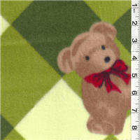 *3 YD PC--Diamond Bear Green Fleece