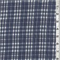 *8 YD PC--Navy Plaid Burnout Shirting