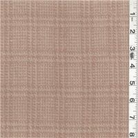 *1 1/2 YD PC--Dark Beige/Tan Plaid Jacketing