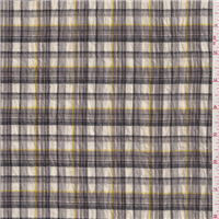 *4 YD PC--Taupe Plaid Gauze