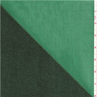 *2 1/8 YD PC--Black/Kelly Green Double Faced Twill