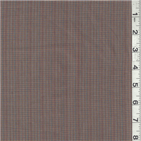 1 3/8 YD PC--Brown Multi Plaid Shirting