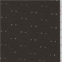 *1 1/2 YD PC-Mocha Brown Eyelet