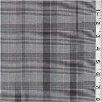 *4 YD PC--Grey/Black Plaid Suiting