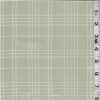 *5 YD PC--Sage Green Plaid Satin Chiffon