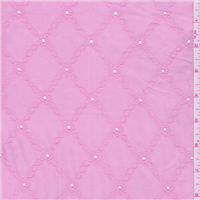 *5/8 YD PC--Dark Pink Eyelet