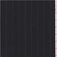 *2 1/4 YD PC--Black Stripe Wool Flannel