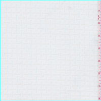*1 YD PC--White Print Shirting