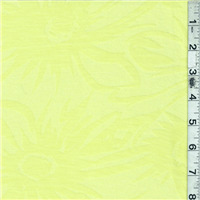 *3 YD PC--Lemon Yellow Floral T-shirt Knit