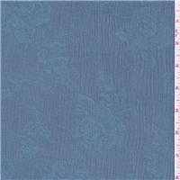 *4 YD PC--Sky Blue Floral Jacquard