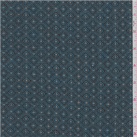 *2 YD PC--Teal Blue Diamond Tapestry
