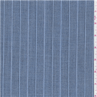 *2 YD PC--Light Blue Stripe Suiting