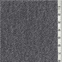 *3/4 YD PC--Black Suiting