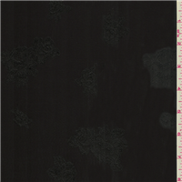 *2 YD PC--Black Floral Jacquard