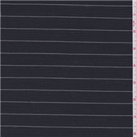 *2 YD PC--Navy Blue Stripe Cotton Suiting