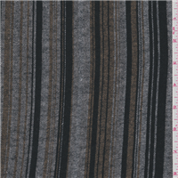 *1 1/8 YD PC--Grey/Black Stripe Flannel