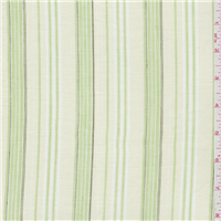 *3 1/8 YD PC--White/Lime Stripe Shirting