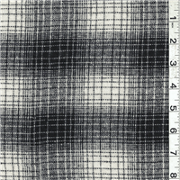 *2 YD PC--Black/White Plaid Wool Outerwear