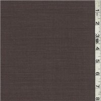 *3 1/4 YD PC--Dark Brown Wool Suiting