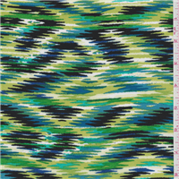 *3 7/8 YD PC--Green/Blue Print Challis