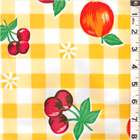 *3 YD PC--Yellow Check Oilcloth