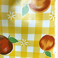 *1/2 YD PC-- YD PC--Yellow Check Oilcloth