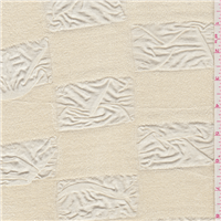 *1 YD PC--Cream Novelty Slinky