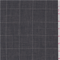*1 YD PC--Steel Blue Check Suiting