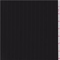 *2 1/4 YD PC--Black Stripe Wool Suiting