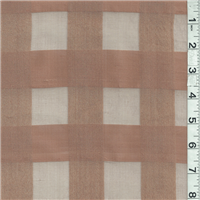 *2 YD PC--Brown Silk Organza
