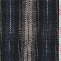 *2 1/4 YD PC--Blue/Grey Plaid Wool Coating