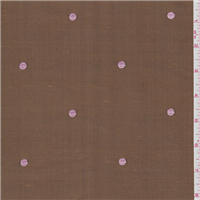 *1 1/4 YD PC--Copper Brown Dot Silk Dupioni