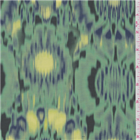 *3 1/2 YD PC--Jade Green Print Lining
