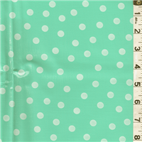 *1 7/8 YD PC--Seafoam Dot Oilcloth
