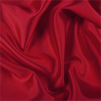 *4 1/2 YD PC--Bright Red Silk/Wool Gab