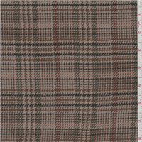 *3 1/2 YD PC--Taupe Plaid Coating
