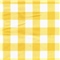 *7/8 YD PC--Yellow 1 Inch Gingham