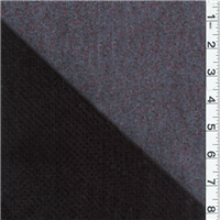 *2 YD PC--Black Double Faced Velvet