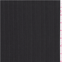 *3 YD PC--Charcoal Grey Pinstripe Wool Suiting