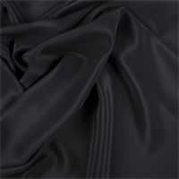 *1 YD PC--Black Silk Crepe de Chine