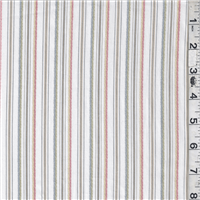 *2 YD PC--White Multi Stripe Shirting