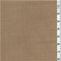 *1 YD PC--Brown Twill Wool Suiting