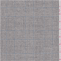 *2 1/4 YD PC--Sterling Grey Glenplaid Suiting