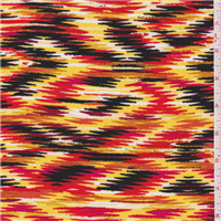 *1 YD PC--Yellow/Pink Print Challis