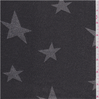 *1 YD PC--Black/Silver Star Lame'