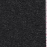 *1 YD PC--Jet Black Textured Knit