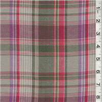 *4 YD PC--Taupe Multi Plaid Linen