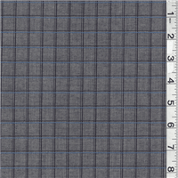 *4 YD PC--Charcoal Grey Plaid Suiting