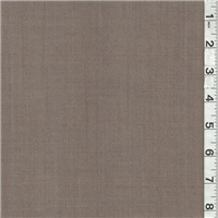 *2 3/4 YD PC--Brown/Dark Beige Plaid Suiting
